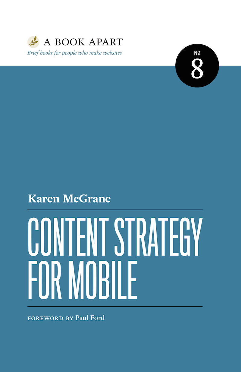 Content Strategy for Mobile cover art.